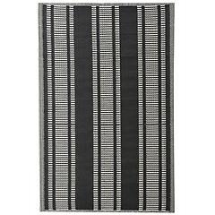Alfombra terraza 180x120 cm B&W negro