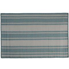 Alfombra terraza 180x120 cm B&W azul