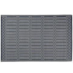 Alfombra terraza 180x120 cm Tile azul