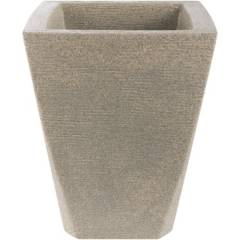 JUST HOME COLLECTION - Macetero Grafiato trapecio de plástico 43x34 cm granito