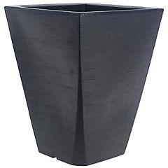 Macetero Grafiato trapecio de plástico 50x37 cm negro
