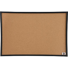Pizarra corcho marco negro 75x50 cm