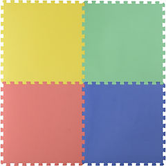 Alfombra puzzle colores 60x60 cm 4 piezas home - Alfombras puzzle infantiles ...