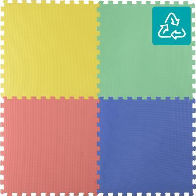 alfombra puzzle colores 60x60 cm 4 piezas - sodimac