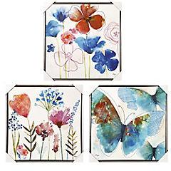 Set de 3 Flora Fauna 60x60 cm