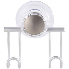 Percha succión 2 ganchos aluminio