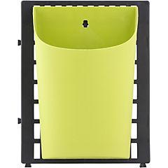 Set de maceteros de pared de plástico 6 unidades verde