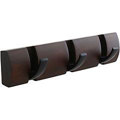 Percha muro 3 ganchos Flip negro