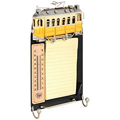 Organizador de notas 3,5x28,5x16,5 cm metal con termómetro