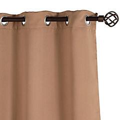 Cortina black out clásica beige 140x225