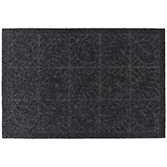 Limpiapiés texture Hoja negro 38x57 cm