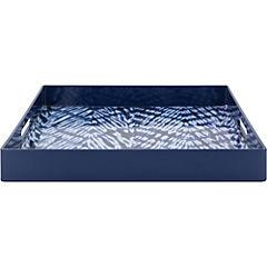 Bandeja 33x33x4,5 cm azul