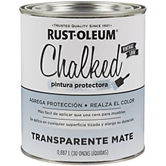 Pintura tizada para muebles 1/4 gl transparente mate