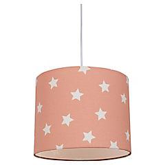 Lámpara colgante rosada Estrellas E27