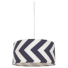 Lámpara colgante gris Zigzag E27