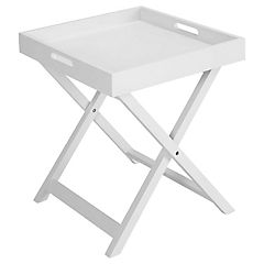 Mesa plegable Tray 40x40x46 cm blanco