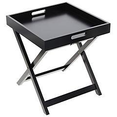 Mesa plegable Tray 40x40x46 cm negro