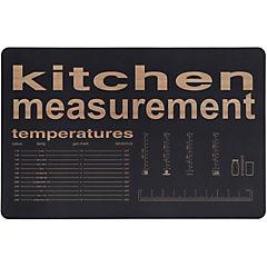 Individual PVC 43x28 cm Kitchen negro