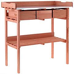 Mesa de trabajo para jardín 100x40x84 cm