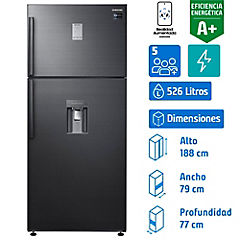 Refrigerador no frost top mount freezer 526 litros gris