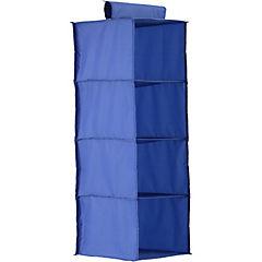 organizadora 4 niveles tela 30x30x84 cm azul