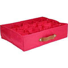 Caja organizadora tela 12 espacios 35x27x9 cm fucsia