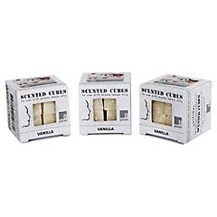 Set de cubos aromáticos vainilla 3 unidades crema