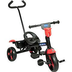 Triciclo con manilla 80x52x95 cm rojo