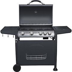 Parrilla a Gas 4 Quemadores + Quemador Lateral Indiana BBQ Grill