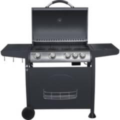 BBQ GRILL - Parrilla a Gas 4 Quemadores + Quemador Lateral Indiana BBQ Grill