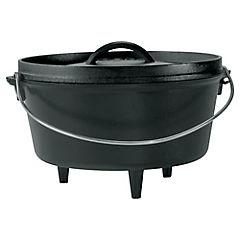 Olla para camping hierro fundido 25,4 cm 4,73 litros negro