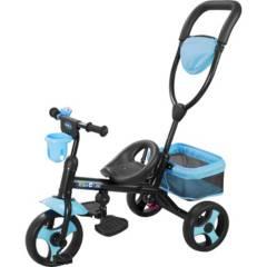 KIDSCOOL - Triciclo 4 funciones azul