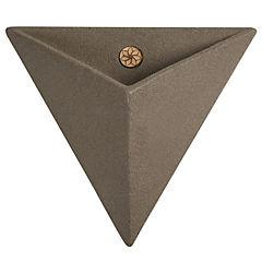 Macetero triangular de plástico 46 cm Café