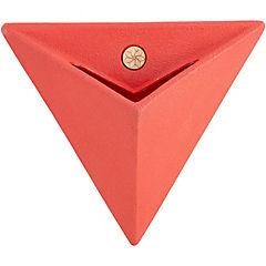 Macetero triangular de plástico 46 cm Magenta
