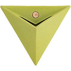Macetero triangular para pared 46 cm verde