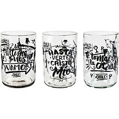 Set de vasos vidrio 300 ml 4 unidades