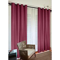 Set de cortinas Sofía 140x220 cm 2 paños rojo