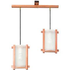 Lámpara colgante 70 cm 2 luces 60 W