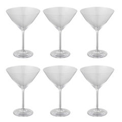 Set 6 copas Bohemia martini