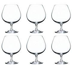 Set de copas para cognac cristal 690 cc 6 unidades