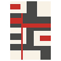 Alfombra Shuffle rojo 80X150 cm