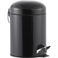 Papelero Negro Metálico 5 litros