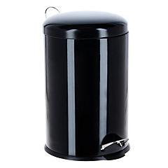 Papelero Negro Metálico 20 litros