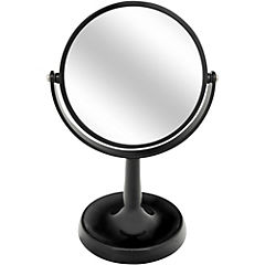 Espejo con aumento para baño negro