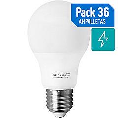 Set de ampolletas LED E-27 40 W Fría 36 unidades