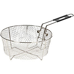 Colador para freír 26,67 cm acero inoxidable gris
