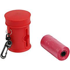 Dispensador de bolsas para perro Rojo