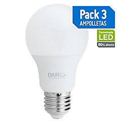 Pack de ampolletas LED E-27 80 W Cálida 3 unidades