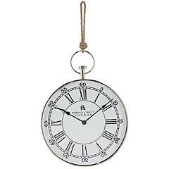 Reloj redondo 63x40x5 cm niquelado