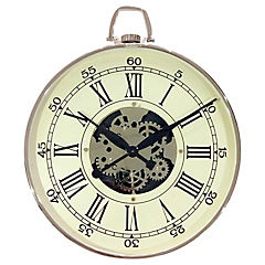 Reloj redondo 61x51x5 cm niquelado
